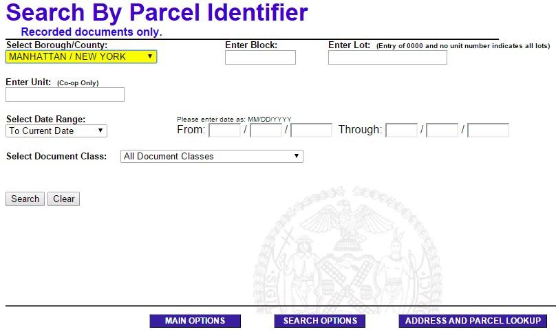 Search By Parcel Identifier