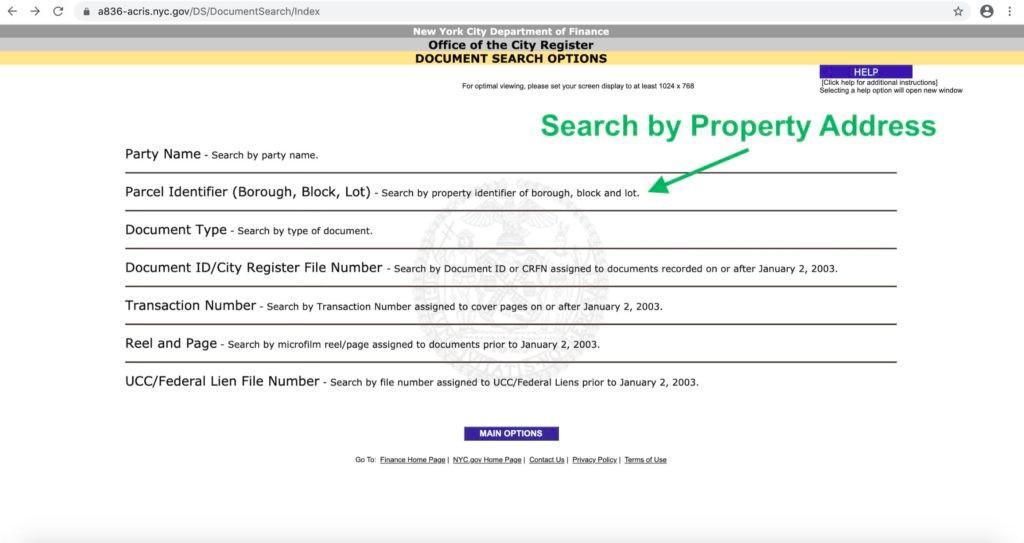 Search by Property Address
