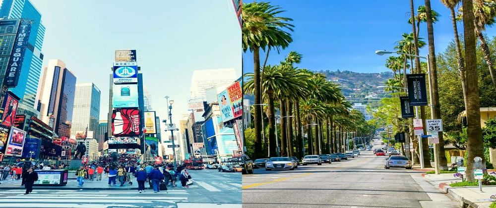 New York vs. Los Angeles Living